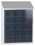 Kantine mini lockerkast SQ Classic, 20-deurs, antraciet