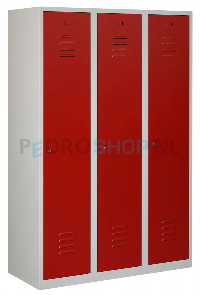 Garderobekast 110 Cm Breed.Voordelige Rode Garderobekast Met 3 Deuren 120 Cm Breed Online